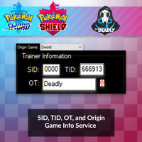 Secret ID Service for Pokemon Sword and Shield [SID, TID, OT, Game]