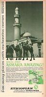 1967 Original Advertising' Vintage Ethiopian Airlines Asmara Amazing