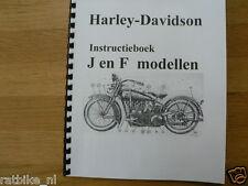 H0009 HARLEY-DAVIDSON---INSTRUCTIE BOEK J EN F MODELLEN----MODEL 1920 LAST ONE