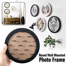 "5""-16"" Modern Round Photo Frame Wooden Hanging Picture Holder Bedroom Decoration"