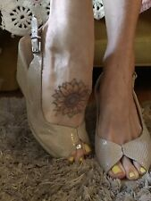 bcbgeneration Wedge Slingback Peep Toe Heels Sz. 7 37