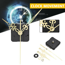 Wall Quartz Clock Movement Mechanism Replacement Tool Part Set Gold Hand DIY Kit