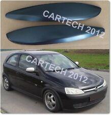 Vauxhall, Opel Corsa C Eyebrows  ABS PLASTIC, tuning
