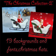 DIGITAL BACKGROUNDS PHOTOGRAPHY PROPS BACKDROPS KIDS CHRISTMAS HOLIDAY OVERLAY