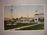 VINTAGE POSTCARD VIEW OF RIDES AT THE AMUSEMENT PARK IN OCEAN VIEW VIRGINIA 1919
