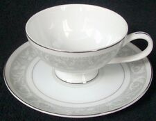 """Imperial China Whitney Pattern # 5671 Footed Cup & Saucer Set 2 3/8"""""""