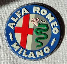 1950s Wheaties Cereal ALFA ROMEO Steel Metal Auto Car Emblem Badge Logo Premium