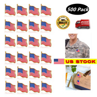 500 - High Quality American Waving Flag Lapel Pins  Patriotic US U.S. USA U.S.A.