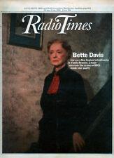 RADIO TIMES 26 JUNE 1982 . BETTE DAVIS COVER . TENNIS WIMBLEDON . DAVID ESSEX