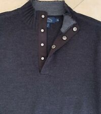 Men's Tommy Bahama Grey Pullover Sweater Snap front close Knit Casual Career XL