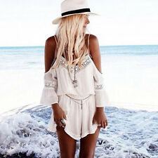 Boho Women Shorts Jumpsuit Summer Beach Dress Ladies Holiday Romper Playsuit Top