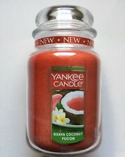 Yankee Candle GUAVA COCONUT FUSION 22  oz. LARGE JAR NEW HTF SCENT
