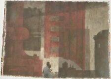 """""""The Siren That is With Us"""" Black Couple & City Painting-1963-William Gorman"""