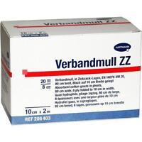 VERBANDMULL Hartmann 10 cmx2 m zickzack 1 St