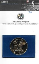 "NASA APOLLO 11 24k 1.5"" GOLD PLATED EAGLE LANDING ON THE MOON JULY 201969"
