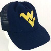 Vintage 1980s University West Virginia Mountaineers Snapback 80s NCAA Hat/Cap