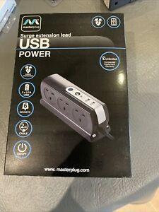 Masterplug Surge Extension Lead USB 2 M