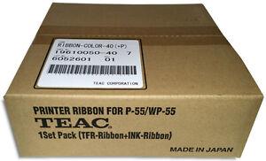 TEAC P-55 VERSAMAX 3-Color CMY Color Ribbon Set (19610050-40)