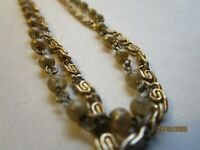Vintage Gold tone 2 Strand Faux Pearl Bead Necklace