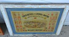 vintage union stockyard pork packers and lard refiners framed  advertisement