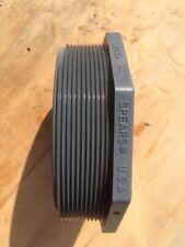 "6"" Schedule 80 PVC Male Threaded Plug MNPT Spears USA Octagonal NSF-pw"
