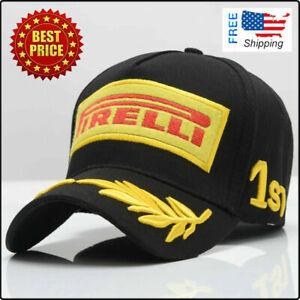 Embroidery Pirelli Racing Hat F1 Sports Moto GP Peaked Baseball Cap Cotton New