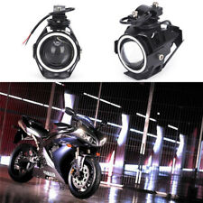 1pc U7 Angel Devil Eye Light 125W Motorcycle LED Fog Spotlight HeadLight J