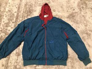 Nike Vintage Blue And Red Windbreaker Size Large Men's