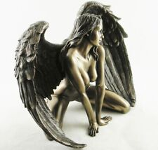 Naked Female Fallen Angel Figurine Erotic Bronzed Resin Statue Passion NEW IN