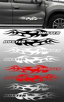 SET DE 2 X FLAMMES POUR DUSTER DACIA 57cmX9cm AUTOCOLLANT STICKER AUTO FA132