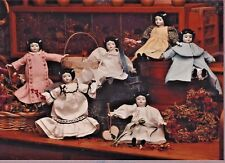 "8-10""China Head/Parian Doll Cloth Body Cross Stitch Coat-Dress Variation Pattern"