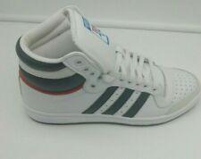 Adidas Originals Mens Top Ten Hi Shoes Trainers White/Blue Size  UK 8 EU 42