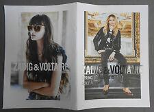 ►CATALOGUE ZADIG & VOLTAIRE N°10 - ETE 2015 - SASHA PIVORAROVA-DYLAN FORSBERG...