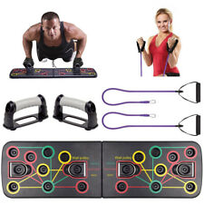 9 in 1 Push Up Rack Board System Fitness Workout Train Gym Exercise Stands BO