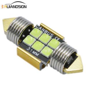 10X Festoon 31MM LED Ice Blue Interior Dome Roof Door Light Bulb Lamp Globe 12V