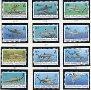 British Indian Ocean Terr. 1994 Sharks set fine fresh MNH