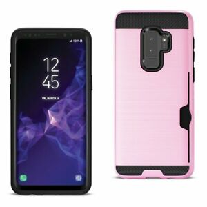 Hybrid Impact Hard Case with Credit Card Holder For Samsung Galaxy S9 /