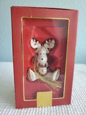 Lenox Moosecapades Fine China Christmas Ornament New Moose on Skates