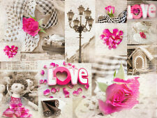 BEAUTIFUL RUSTIC FLORAL CANVAS PICTURE #60 STUNNING SHABBY CHIC ROMANTIC CANVAS