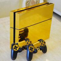 Gold PS4 Playstation 4 Skin Wrap Sticker Decal Covers Console + 2 Controller Set
