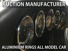 Porsche 911  964  993 Polished Aluminium Gauge Rings Chrome Trim Surrounds 5pcs