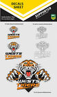NRL Wests Tigers iTag UV Sticker Sheet