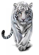 Color Bügeltransfer Bügelbild Applikation weißer Tiger klein CBT 080 a