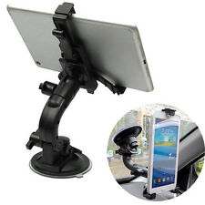 360° Car Windshield Suction Mount Bracket Holder Stand 7 Inch Tablet PC Black