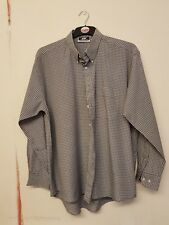 mens grey checked, long sleeved shirt by Goirgio size xl