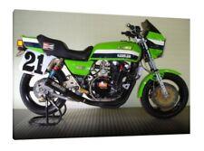 KAWASAKI KZ1000R - 30x20 pulgadas lienzo enmarcado cuadro bicicleta clásico de impresión