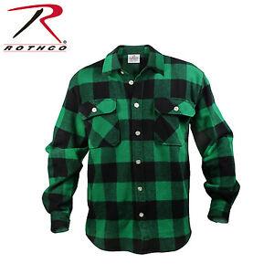 Rothco 4739 Extra Heavyweight Buffalo Plaid Long Sleeve Flannel Premium Shirt