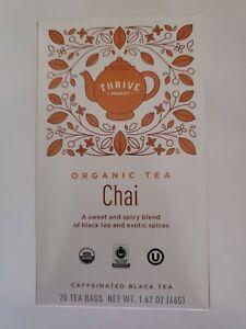 Thrive Market Organic Chai Tea 20 count