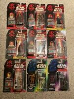 LOT OF (9) STAR WARS EPISODE 1 + POWER OF THE FORCE FIGURES BRAND NEW IN BOX!!!!