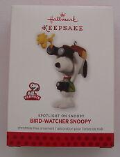 Hallmark 2013 Spotlight On Snoopy #16 in Series Bird Watcher Christmas Ornament